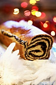 Poppy seed roulade for Christmas (Eastern Europe)