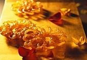 Jalebis (Sweet deep-fried pastry spirals in saffron syrup, India)