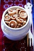 Pickled mushrooms (Milk caps)
