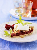 Swiss cherry tart