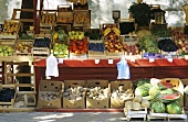 Fruit and vegetable stall at a market