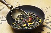 Dried tea leaves and flowers