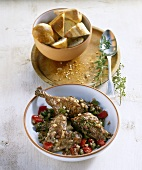 Chicken in pepper and caper sauce