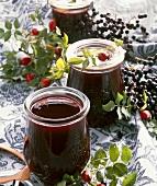 Elderberry and rose hip jam
