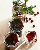 Haw and elderberry jelly