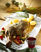 Roast shoulder of lamb