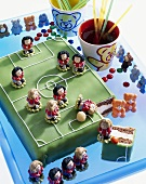 Football pitch cake