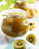 Apricot and kiwi fruit jam