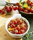 Sweet and sour cherry tomatoes