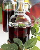 Home-made sage vinegar