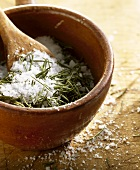 Herbs in salt