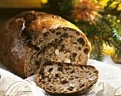 Christmas fruit bread