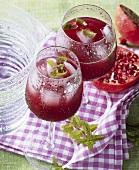 Pomegranate kirsch drink
