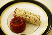 Château Lafite wine cork and capsule