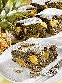Pineapple poppy seed cake