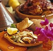 Chicken tajine with sweet tomato jam (Morocco)