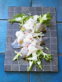 Sea bream sashimi salad