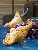 Wontons with salmon filling
