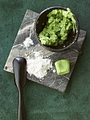 Wasabi, powder and paste