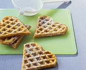 Heart-shaped carrot and oat waffles (for babies)