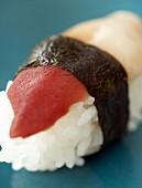 Nigiri sushi with crab claw