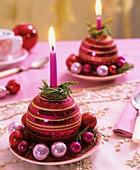Weihnachtsbaumkugel als Kerzenhalter