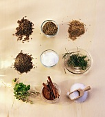 Herbs and spices used in bread-making