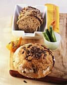 Pumpkin bread and courgette bread