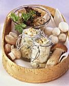 Cep paste, mushroom caviare