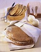 Barley flatbread, onion flatbread