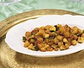 Potato curry with poppy seeds