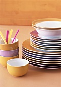 Coloured tableware