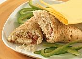 Salami and sauerkraut wraps