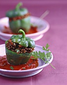 Peppers stuffed with lentils