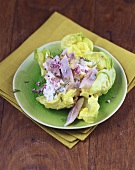Matje herring salad with apples