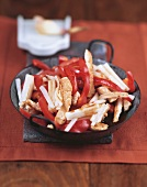 'Red and white' turkey strips