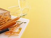Carrots and sparkling wine