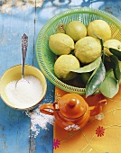 Still life with lemon and sea salt