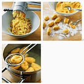 Making pumpkin gnocchi