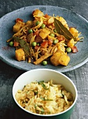 White cabbage curry