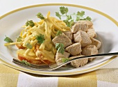 Turkey breast with curried vegetable sauce