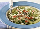 Minestrone con la gremolata (vegetable soup with spice mixture)