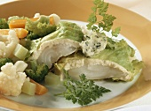Cod fillet with chicory