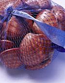 Clams in a net