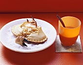 Stuffed crab on bed of salt