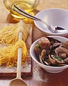 Zutaten für Spaghetti alle vongole