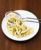 Spaetzle noodles with herbs