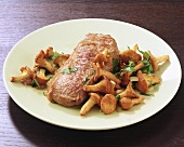 Veal with chanterelles