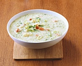 Semolina soup with vegetables