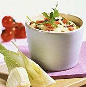 Tomato mayonnaise with olives